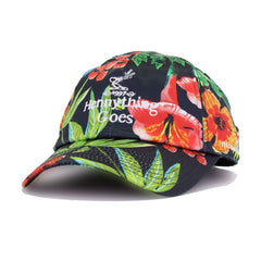 Hennything Goes Black Floral Field Grade Dad Hat