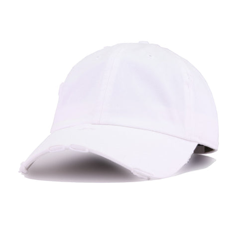 Distressed White KBEthos Vintage Dad Hat
