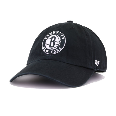 Brooklyn Nets Black 47 Brand Clean Up Dad Hat