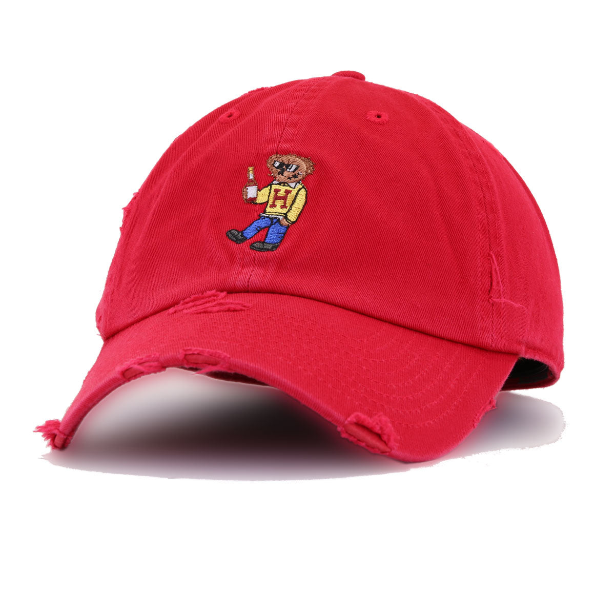 Distressed Henny Bear Red KBEthos Vintage Dad Hat