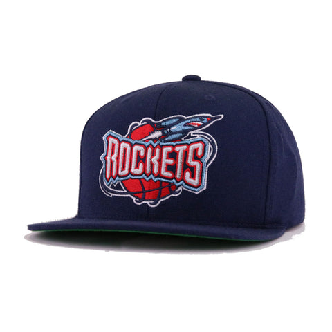 Houston Rockets Navy Hardwood Classic Mitchell and Ness Snapback 9224f54e9d61