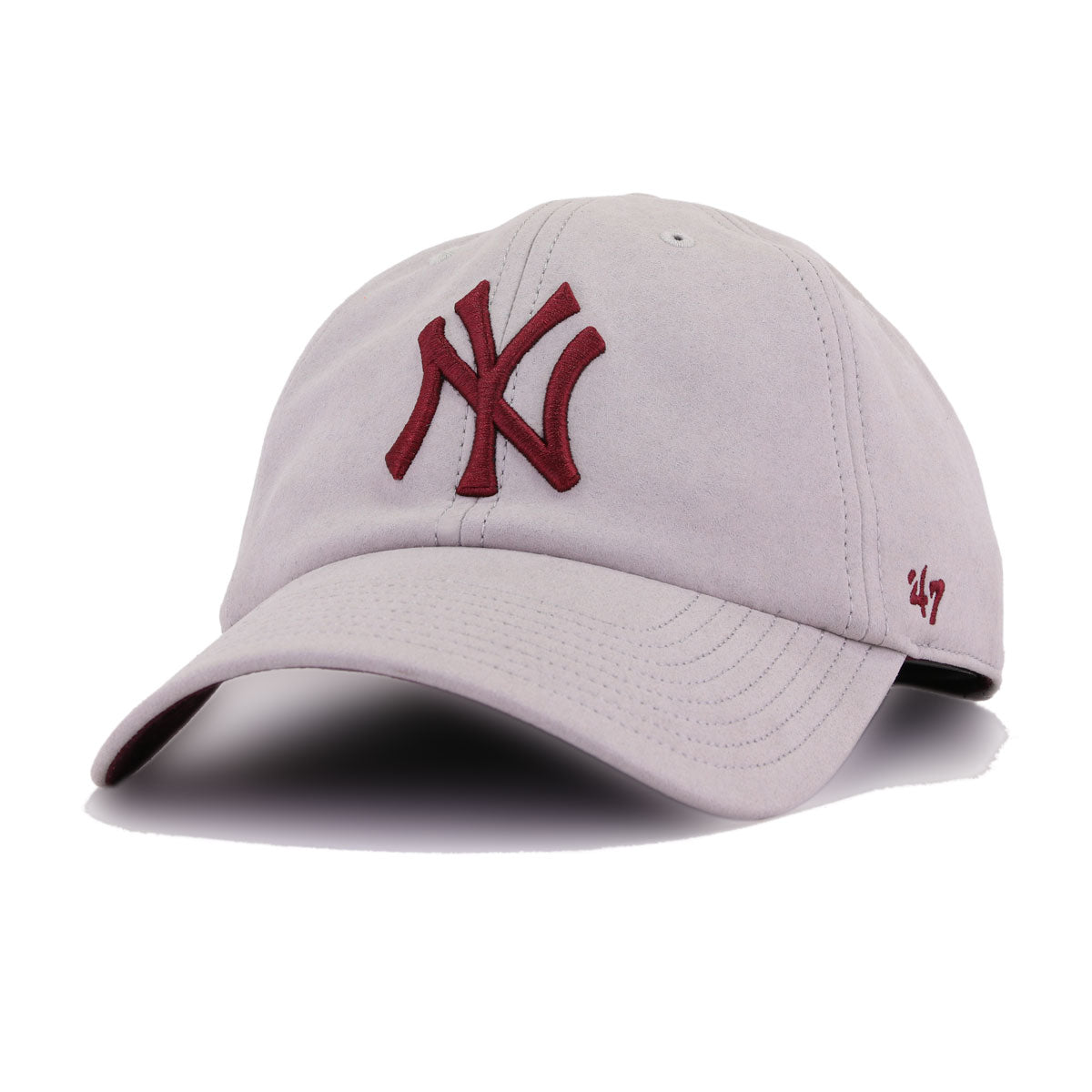 New York Yankees Faux Grey Suede 47 Brand Clean Up Dad Hat