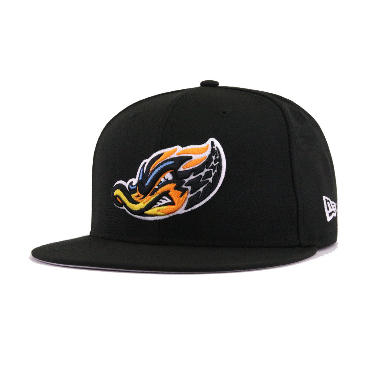 Akron Rubber Ducks Black New Era 9Fifty Snapback