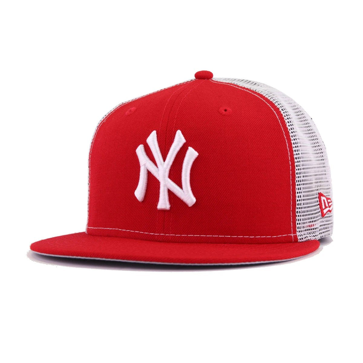 f53f84aa New York Yankees Scarlet White Trucker New Era 9Fifty Snapback