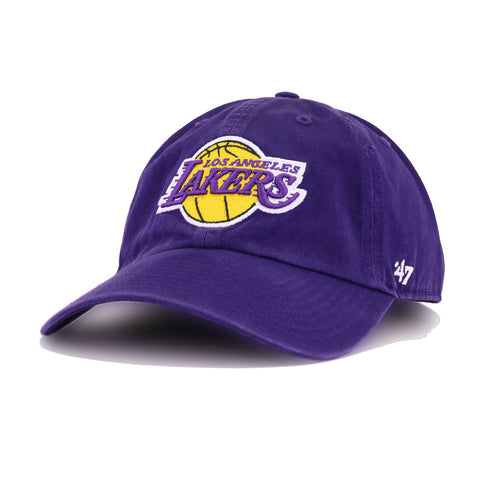 Los Angeles Lakers Deep Purple 47 Brand Clean Up Dad Hat