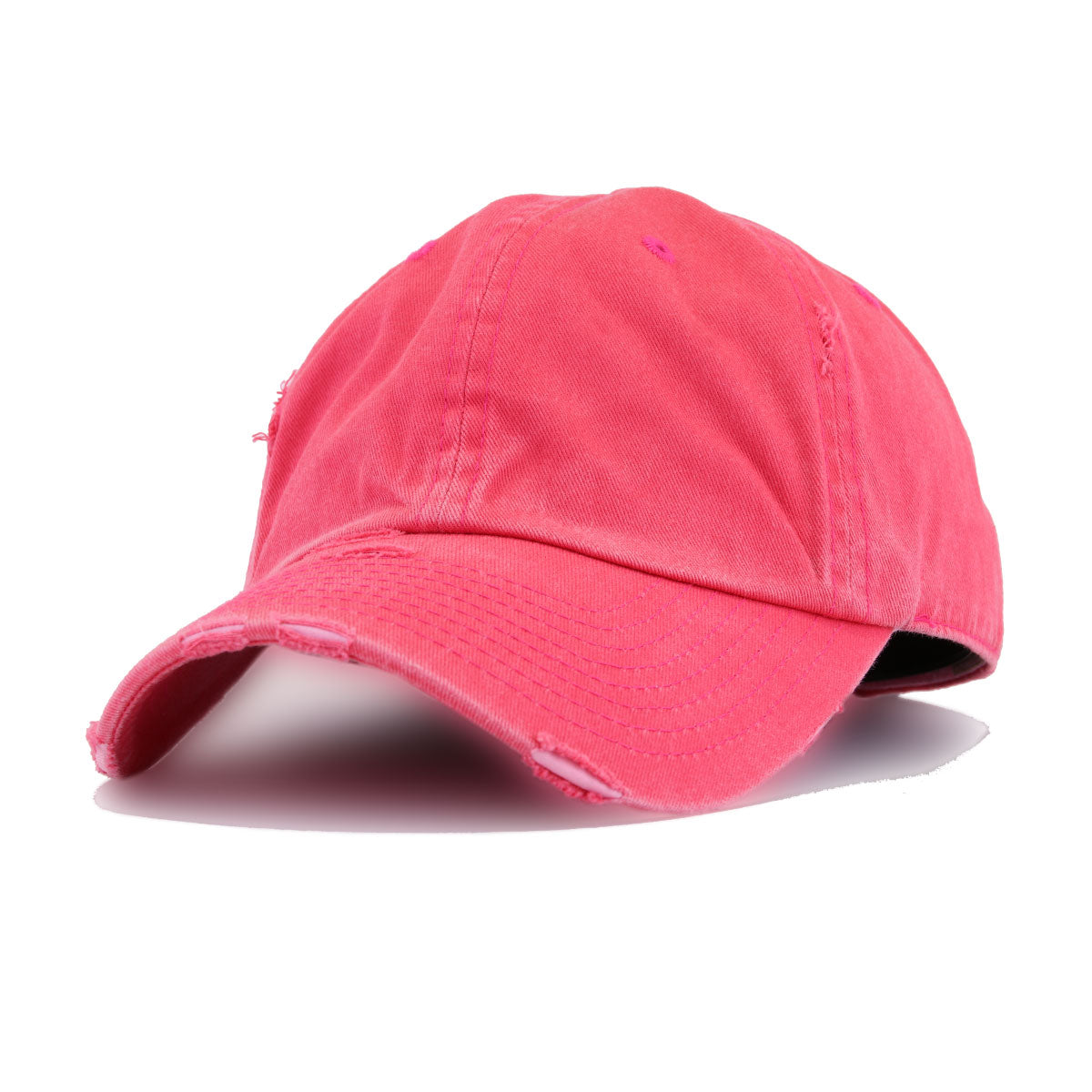 Distressed Pigmented Red KBEthos Vintage Dad Hat