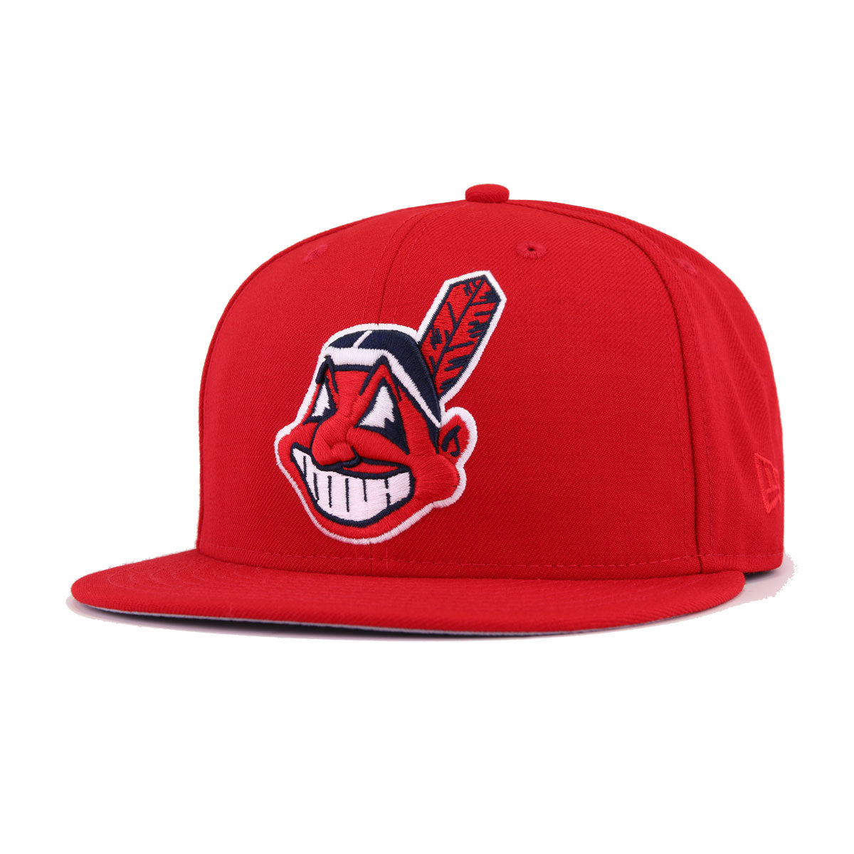 ae9cacb816442 Cleveland Indians Scarlet Chief Wahoo New Era 59Fifty Fitted