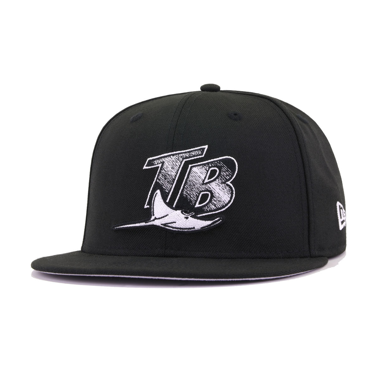 Tampa Bay Rays Black and White 10th Anniversary New Era 59Fifty Fitted