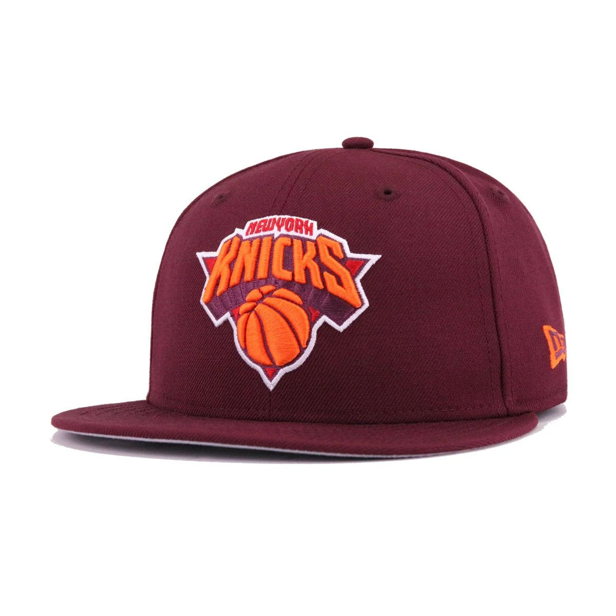 New York Knicks Maroon Orangeade Scarlet New Era 9Fifty Snapback