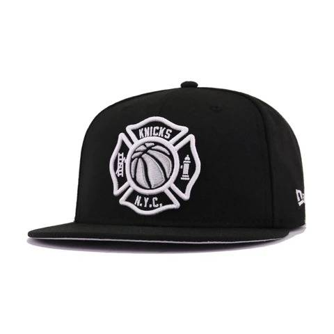 New York Knicks FDNY Black Metallic Aluminum White New Era 59Fifty Fitted