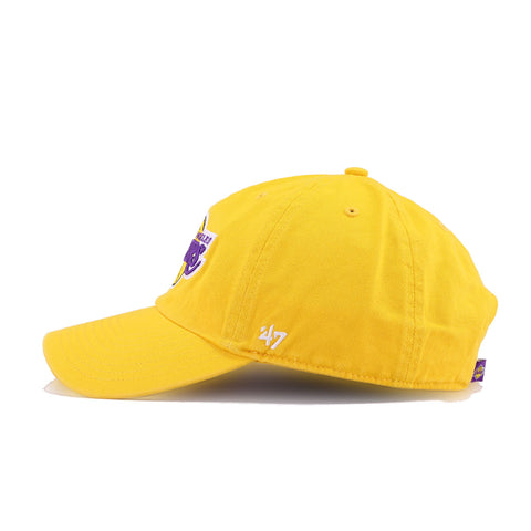 Los Angeles Lakers Yellow 47 Brand Clean Up Dad Hat