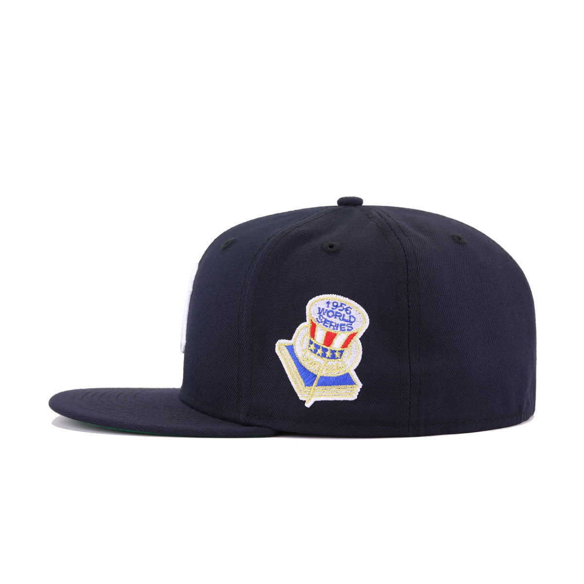 New York Yankees Navy 1956 World Series Cooperstown Green Bottom New Era 59Fifty Fitted
