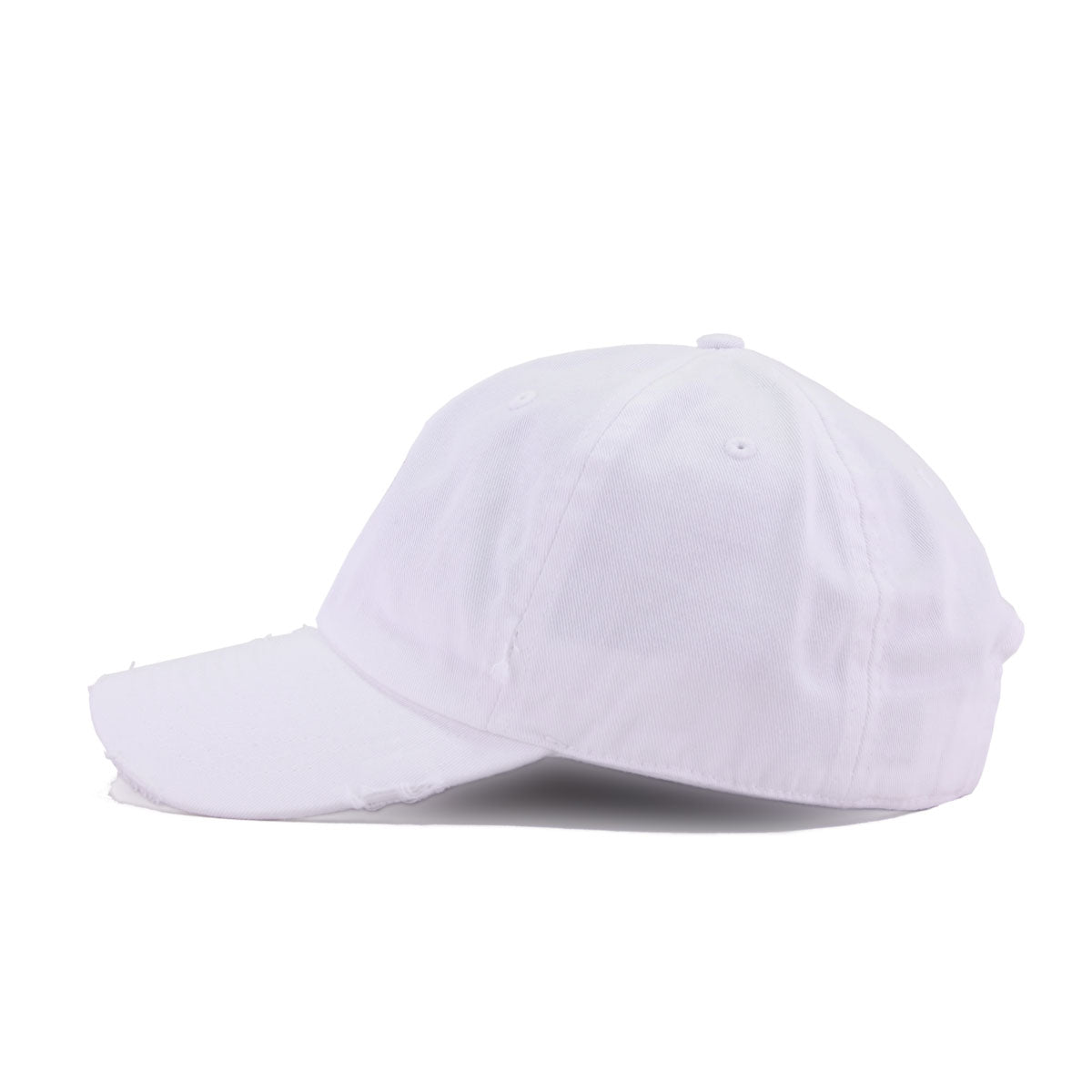 Distressed Rose White KBEthos Vintage Dad Hat