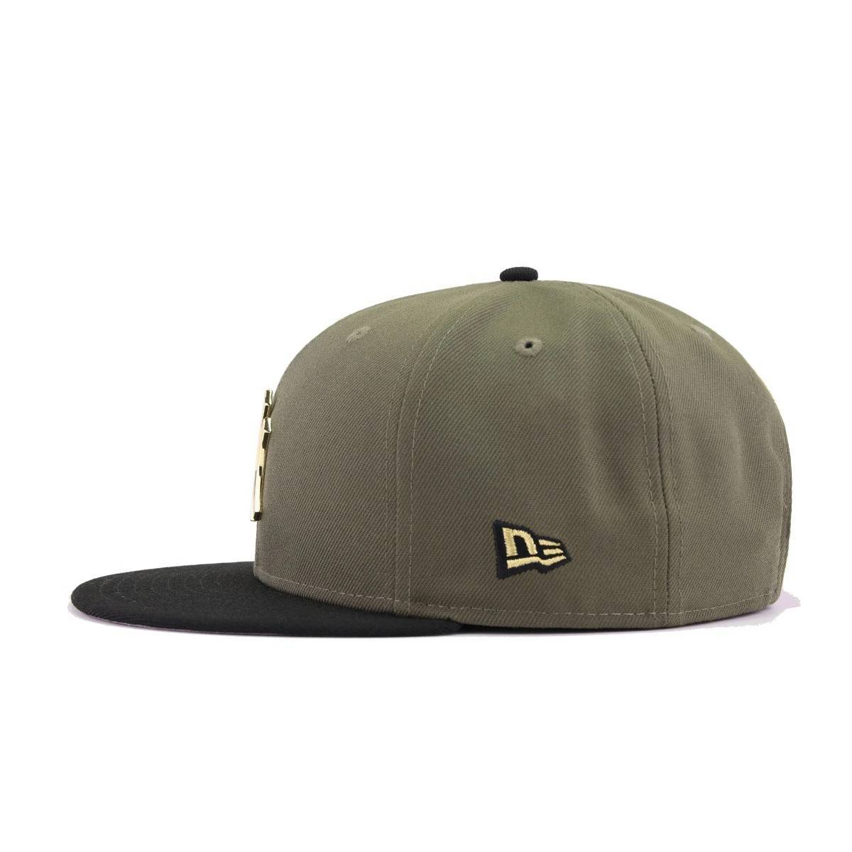 New York Yankees New Olive Black Gold Metal Badge New Era 9Fifty Snapback