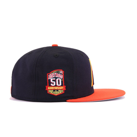 Houston Astros Navy Orangeade Retro New Era 9Fifty Snapback