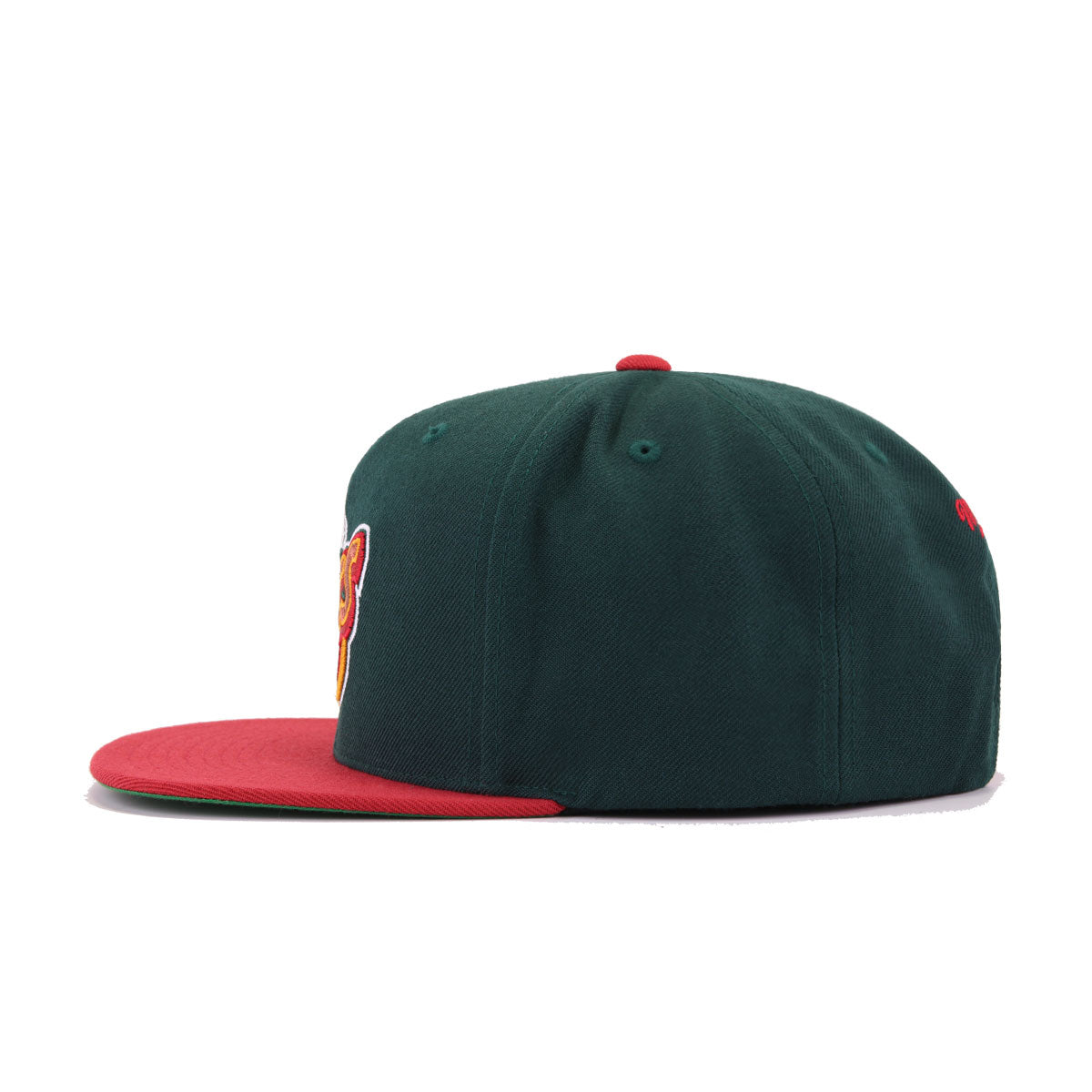 Seattle Supersonics Dark Green Cardinal Red Hardwood Classic Mitchell and Ness Snapback