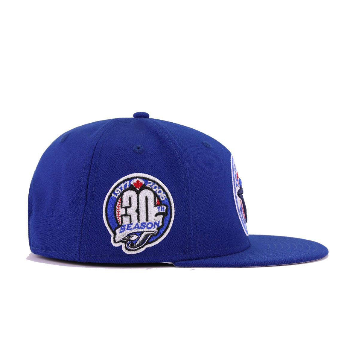 Toronto Blue Jays Light Royal Blue Light Navy Scarlet White 30th Anniversary New Era 9Fifty Snapback