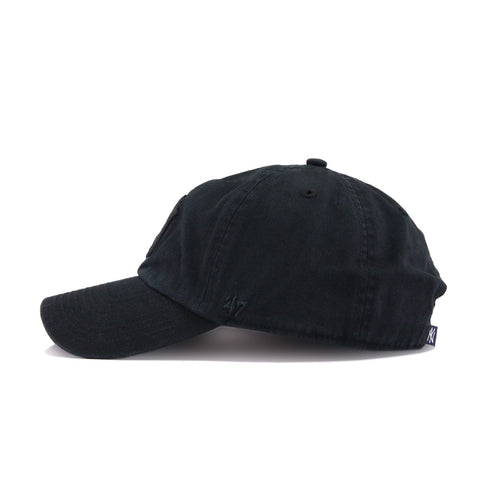 New York Yankees Black on Black 47 Brand Clean Up Dad Hat