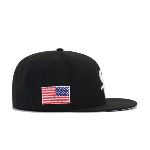 SWAROVSKI x New Era 3.0 Chicago White Sox Black USA Flag New Era 59Fifty Fitted
