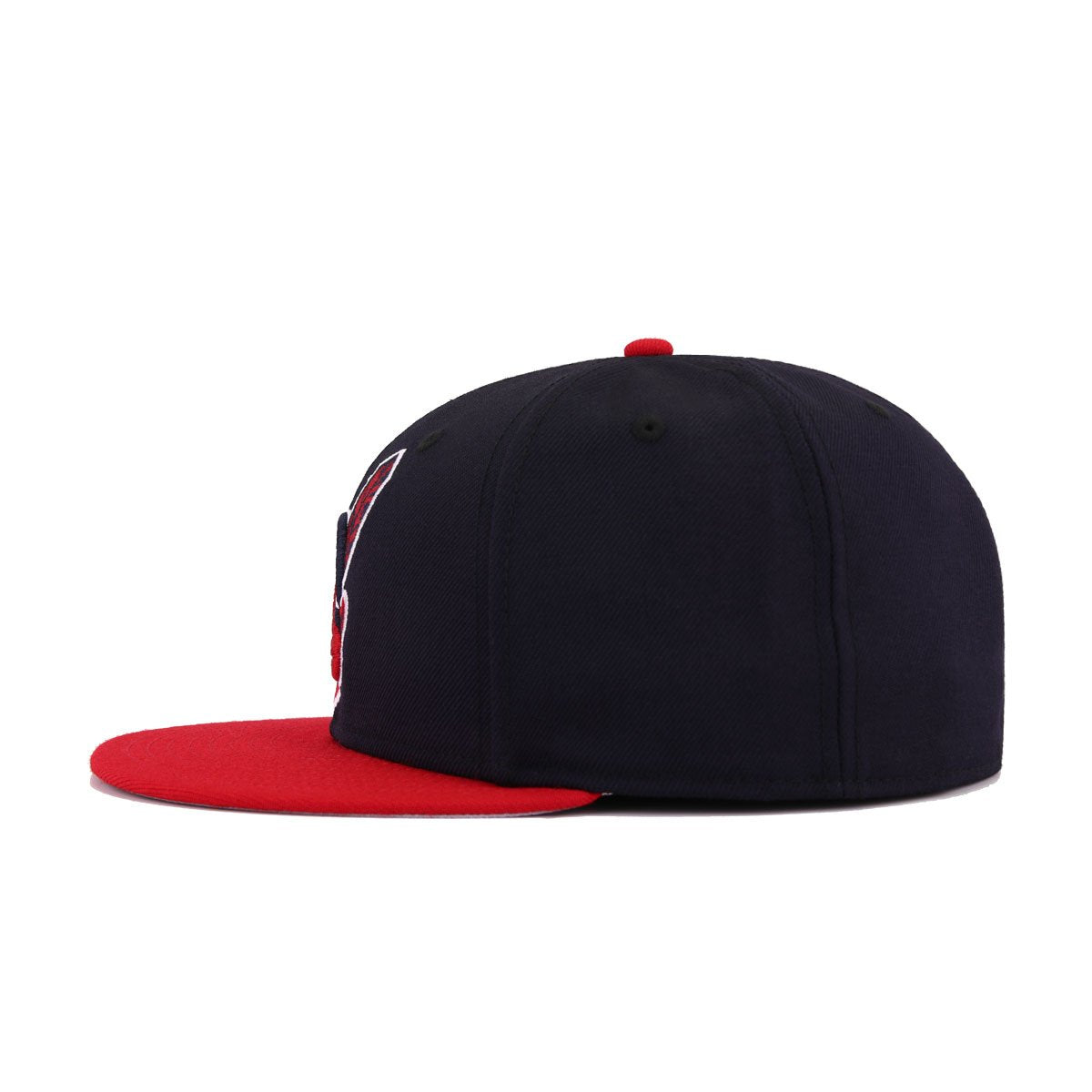 Cleveland Indians Navy Scarlet Chief Wahoo New Era 59Fifty Fitted