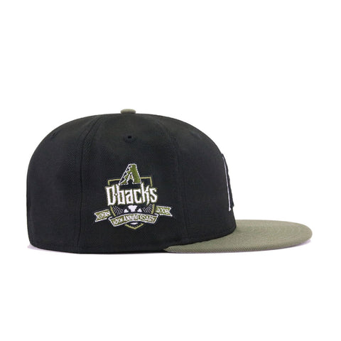 Arizona Diamondbacks Black New Olive 10th Anniversary New Era 9Fifty Snapback