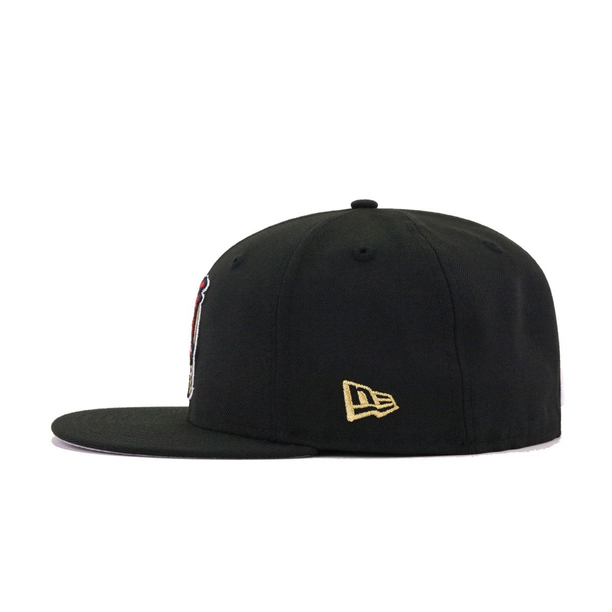Ogden Raptors Black Metallic Gold Scarlet New Era 59Fifty Fitted