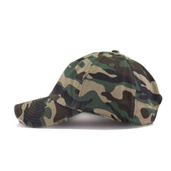 Distressed Camouflage KBEthos Vintage Dad Hat