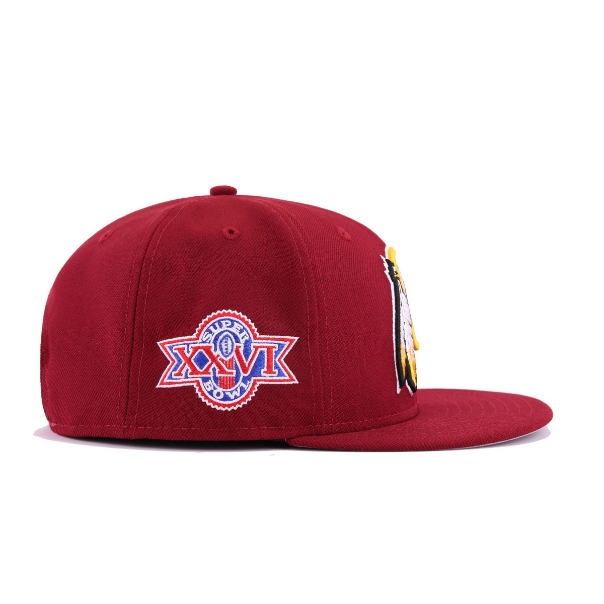 884f19f5 Washington Redskins Cardinal Red Maroon A's Gold Superbowl 26 New Era  9Fifty Snapback