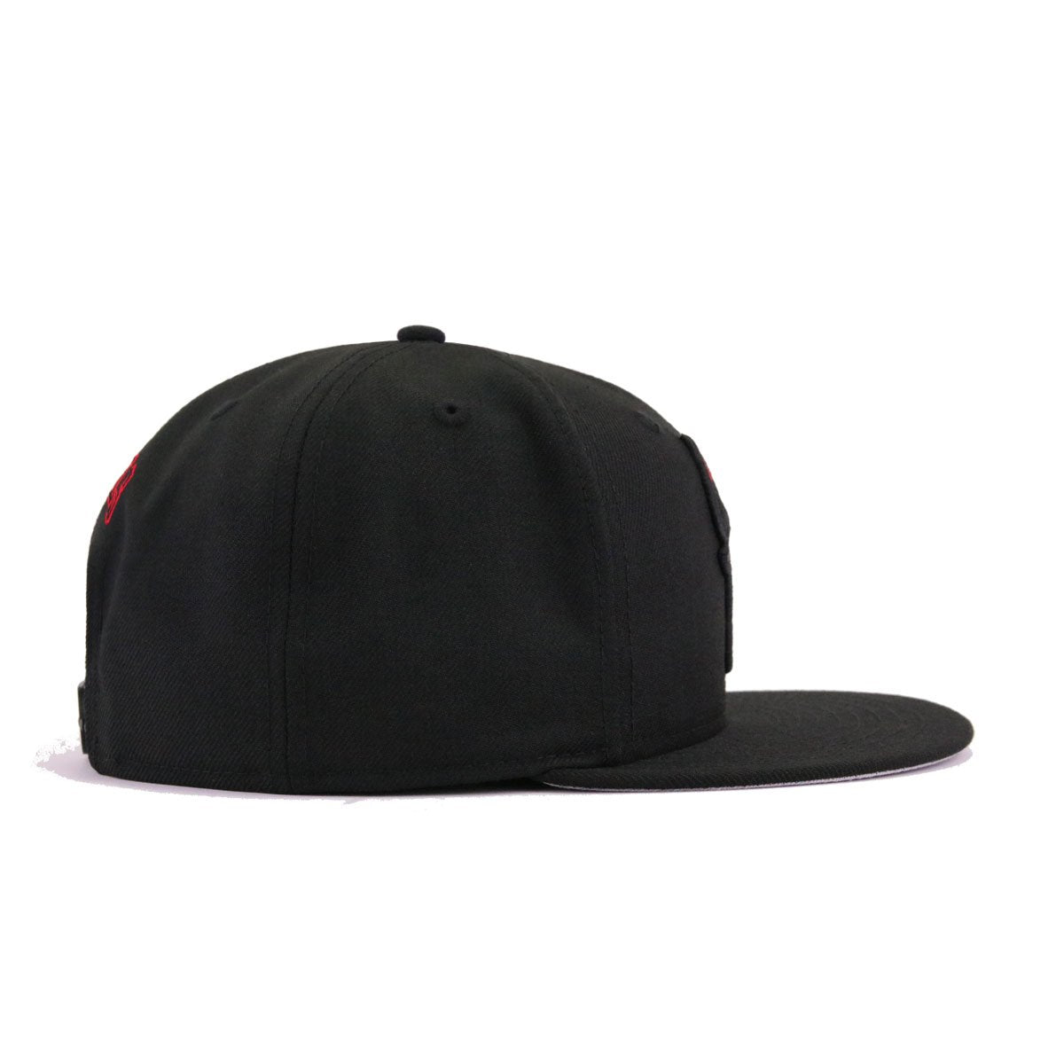 promo code 20a57 15a83 Chicago Bulls Black Scarlet Horn Tip New Era 9Fifty Snapback