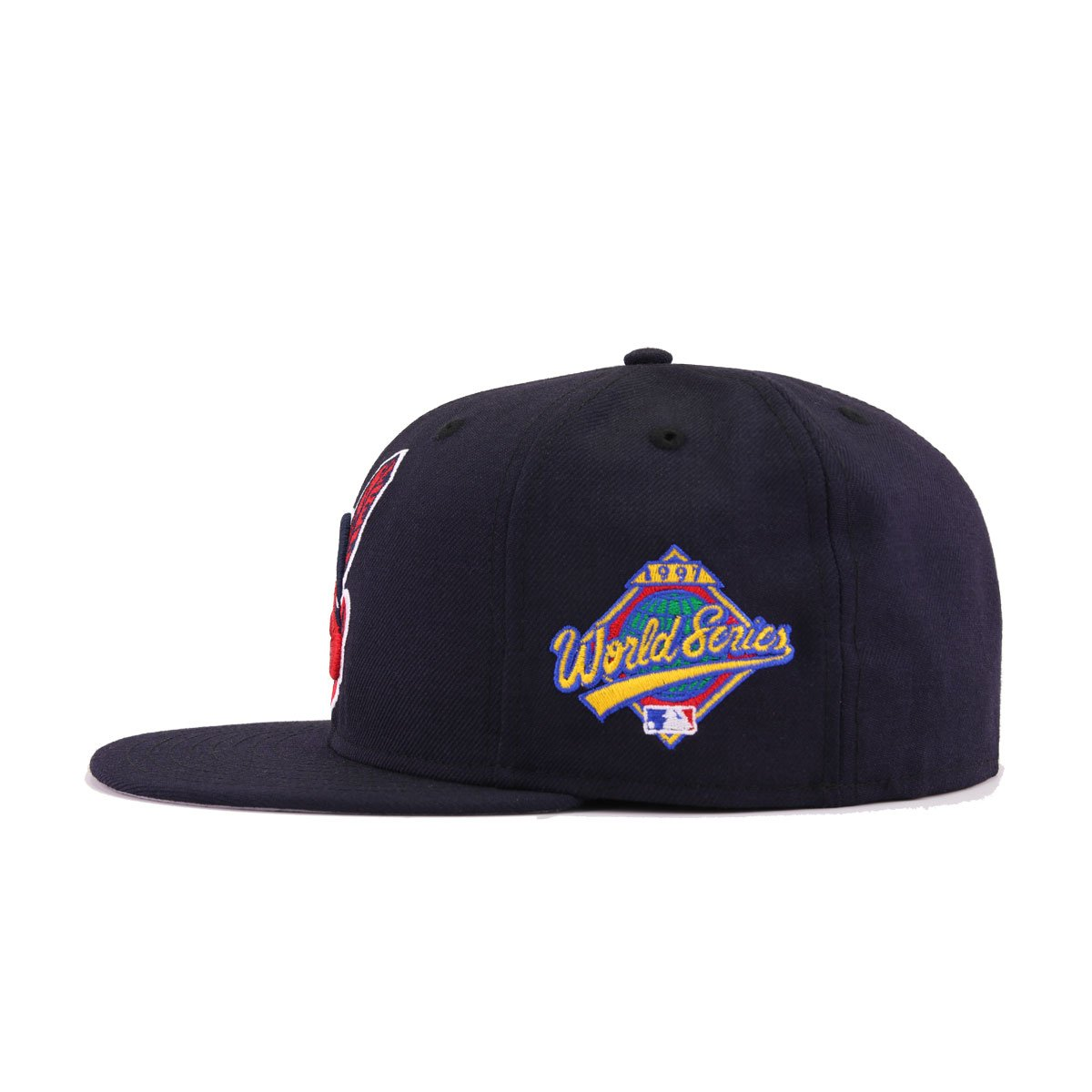 Cleveland Indians Navy 1997 World Series Cooperstown New Era 59Fifty Fitted