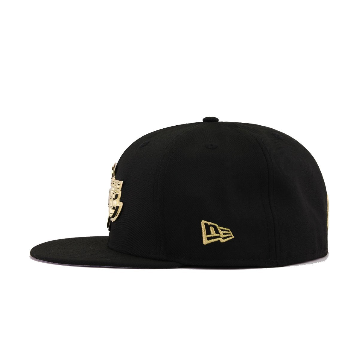 Los Angeles Lakers Black Gold Metal Badge New Era 59fifty Fitted Hat Heaven