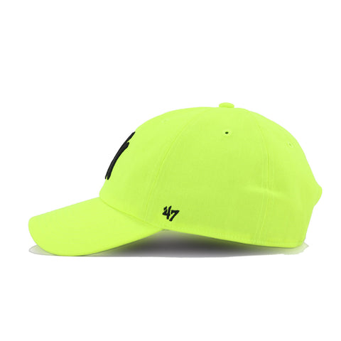 New York Yankees Neon Yellow Black 47 Brand Clean Up Dad Hat