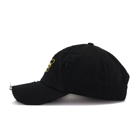 Distressed Hennything is Possible Black KBEthos Vintage Dad Hat