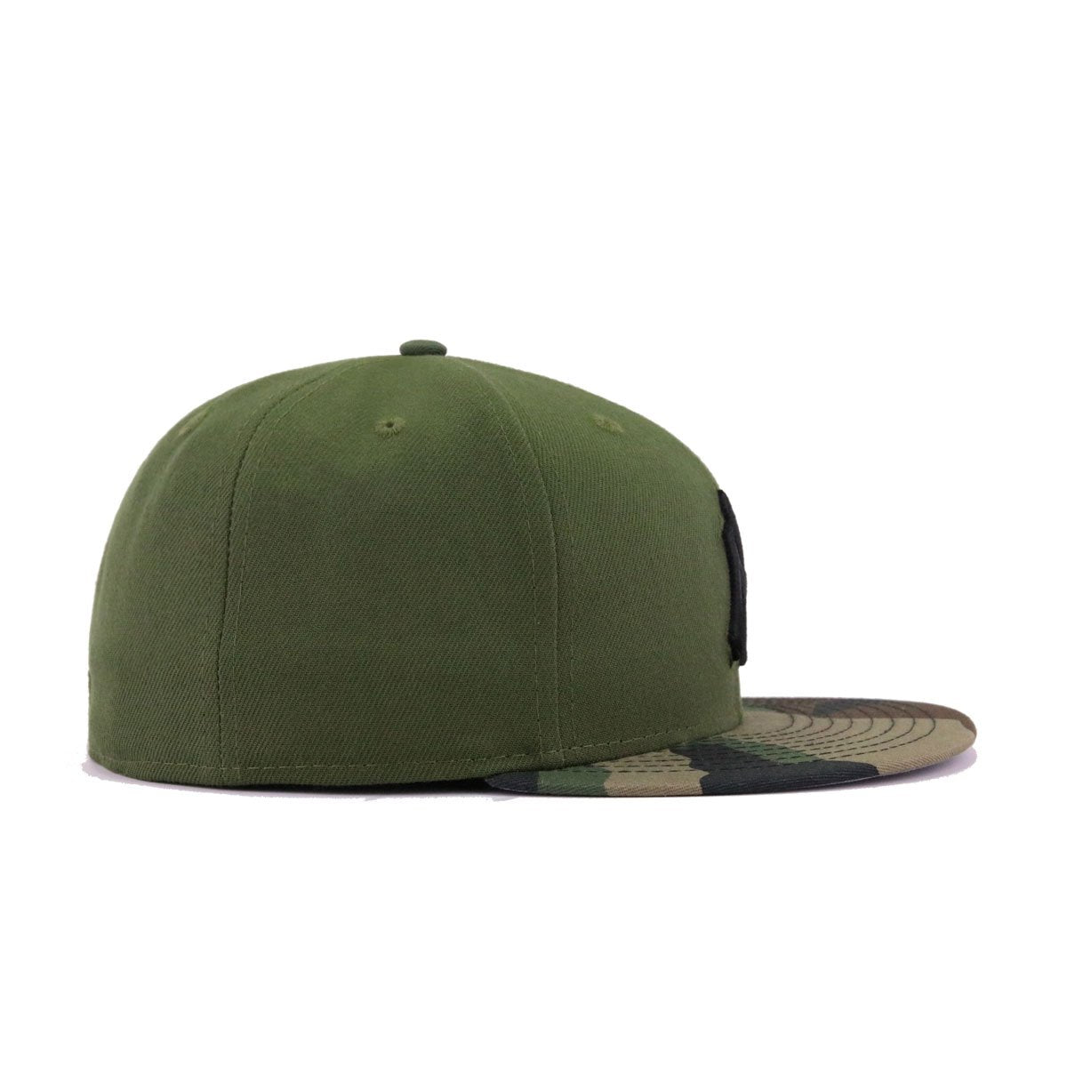 New York Yankees Rifle Green Woodland Camouflage Black New Era 59Fifty Fitted