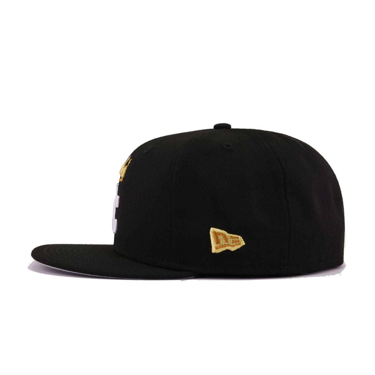 Kansas City Royals Black Metallic Gold Batting Practice New Era 59Fifty Fitted