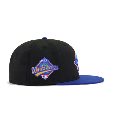 Toronto Blue Jays Black Light Royal Blue 1993 World Series New Era 59Fifty Fitted