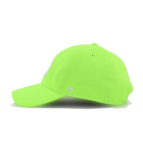 New York Yankees Neon Green 47 Brand Clean Up Dad Hat