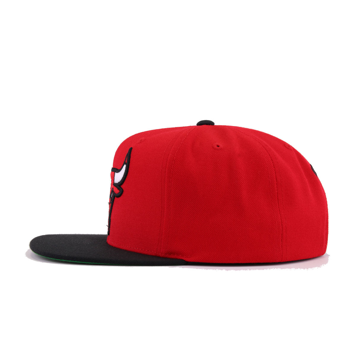 Chicago Bulls Scarlet Black Mitchell and Ness Snapback