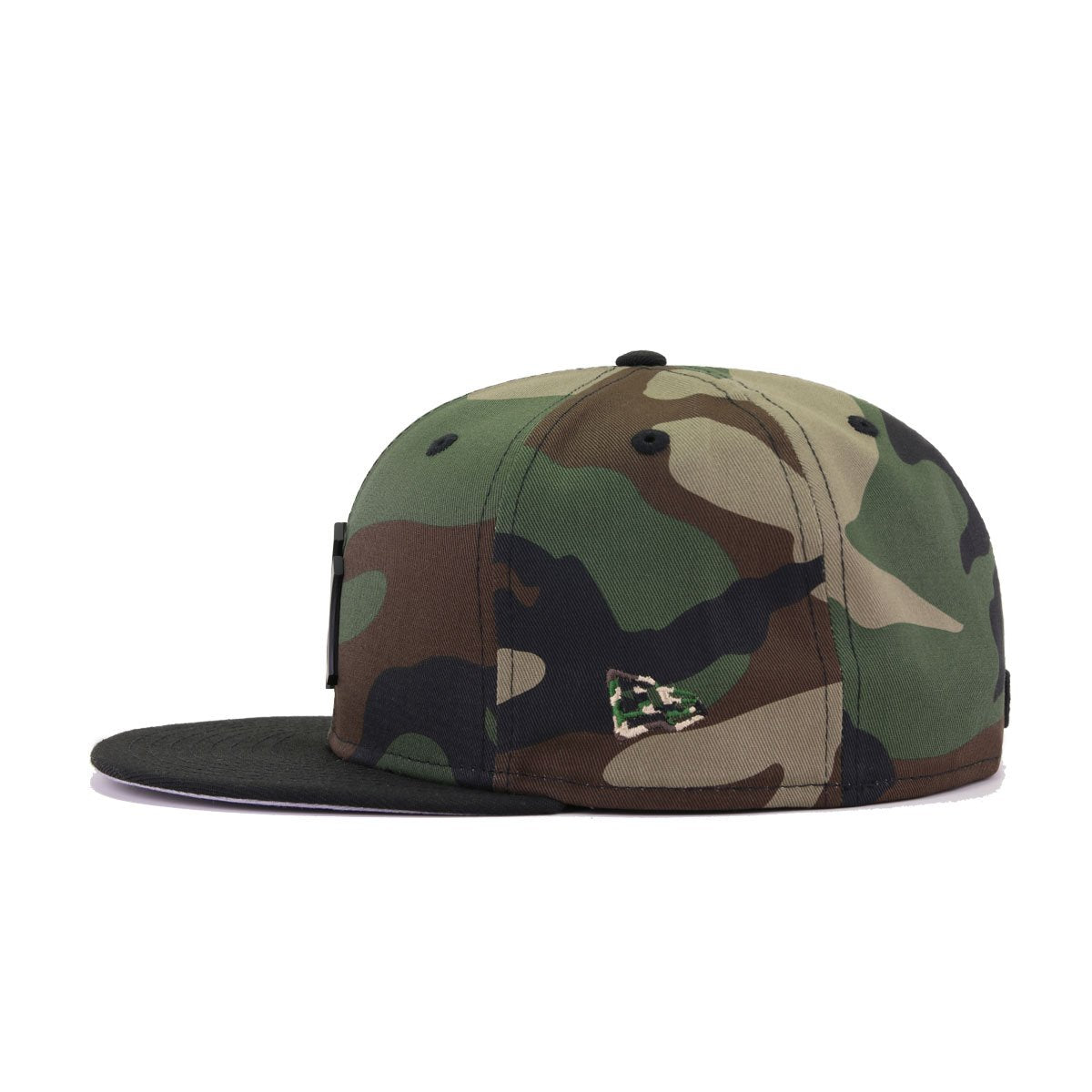 New York Yankees Woodland Camouflage Black Black Metal Badge New Era 59Fifty Fitted