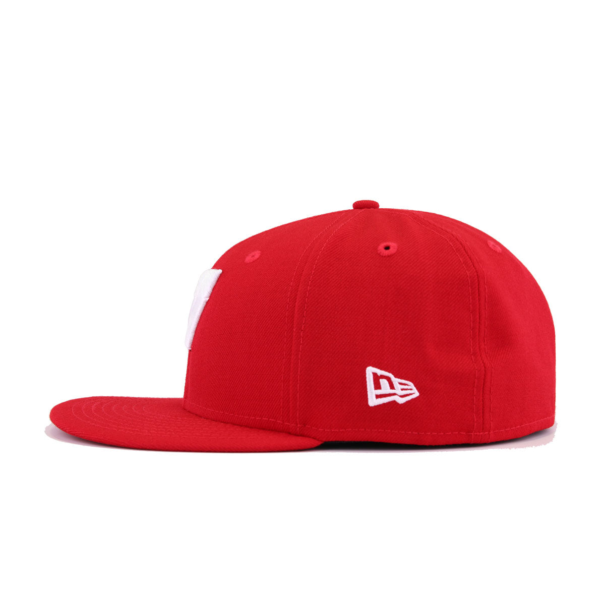 University of Wisconsin Badgers Scarlet New Era 59Fifty Fitted