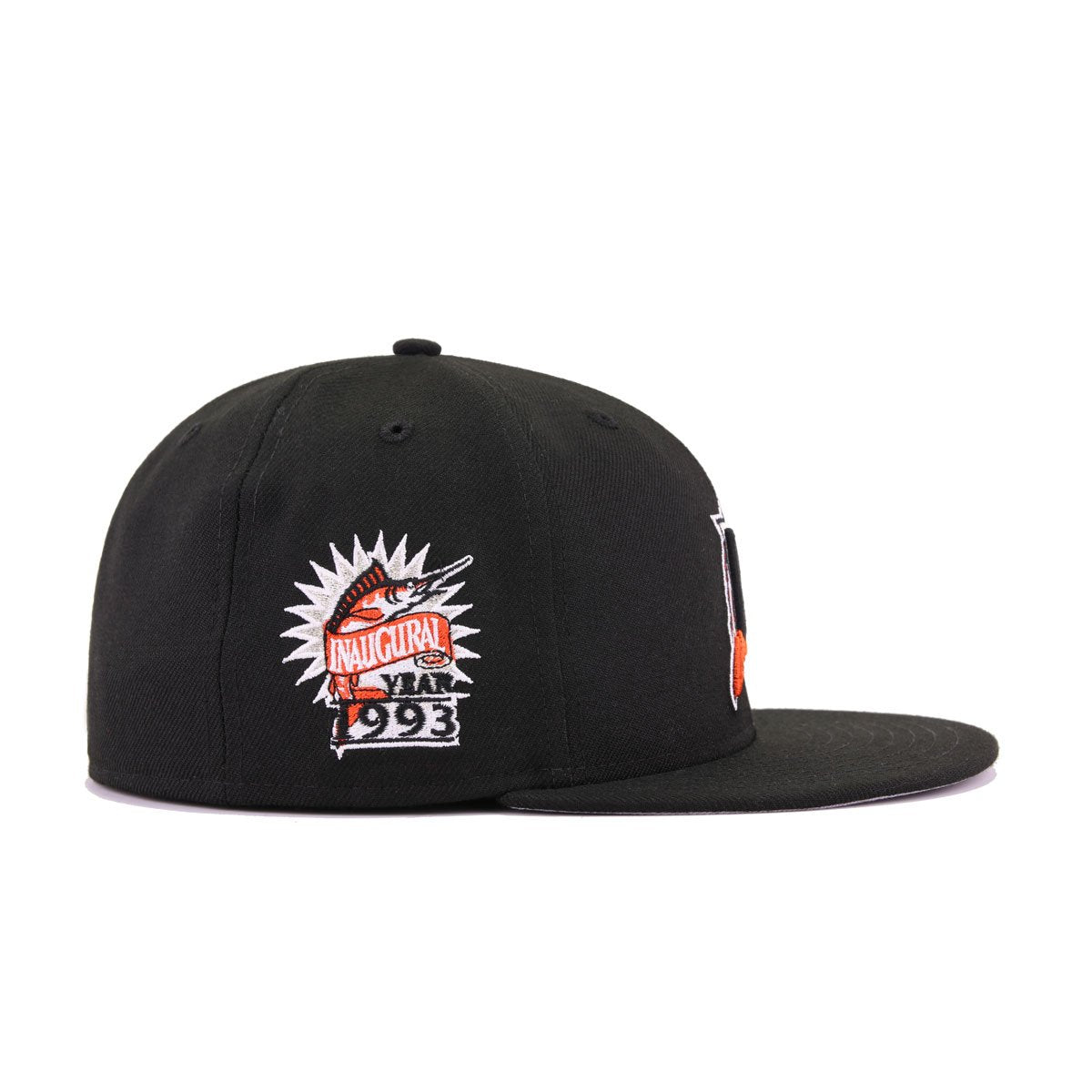Florida Marlins Black Orangeade 1993 Inaugural Season New Era 59Fifty Fitted