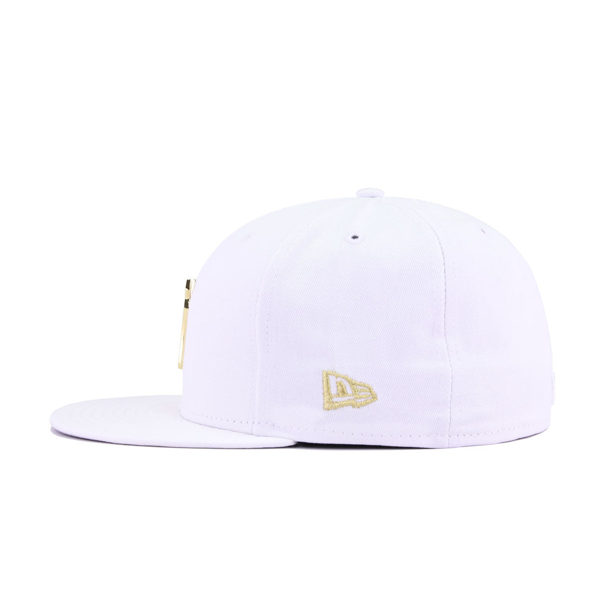 New York Yankees White Twill Gold Metal Badge New Era 59Fifty Fitted