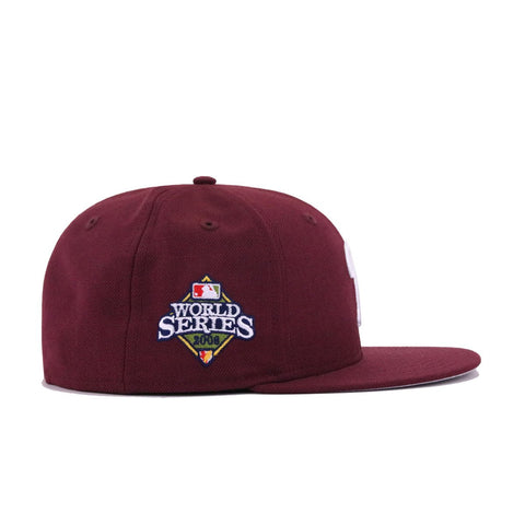 Philadelphia Phillies Maroon 2008 World Series New Era 59Fifty Fitted