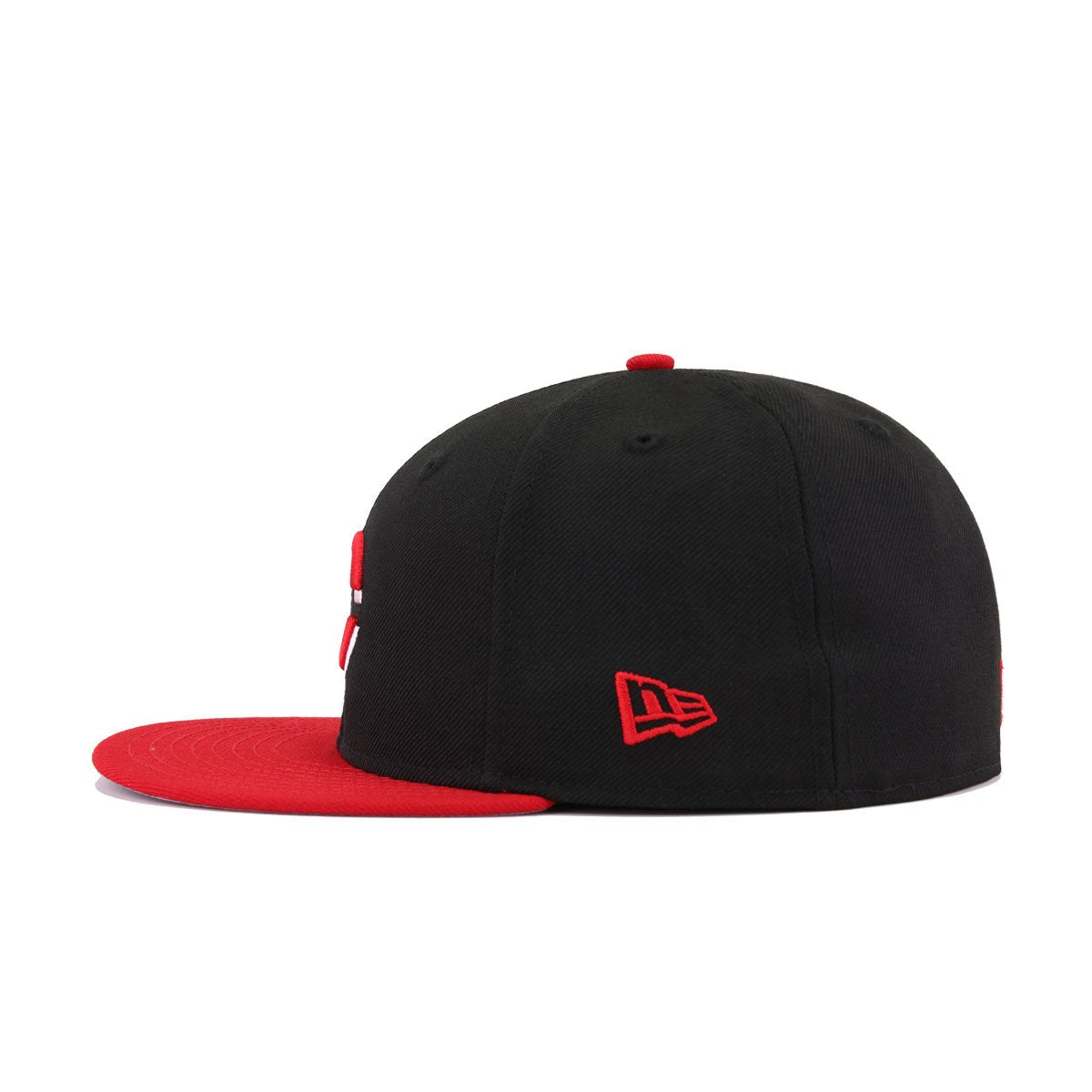 Cincinnati Reds Black Scarlet 1990 World Series Cooperstown New Era 59Fifty Fitted