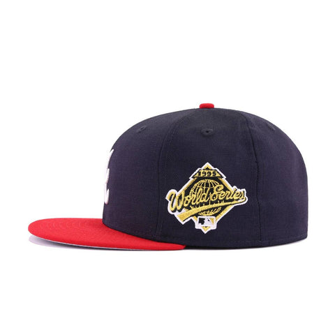 Atlanta Braves Navy Scarlet 1995 World Series New Era 59Fifty Fitted