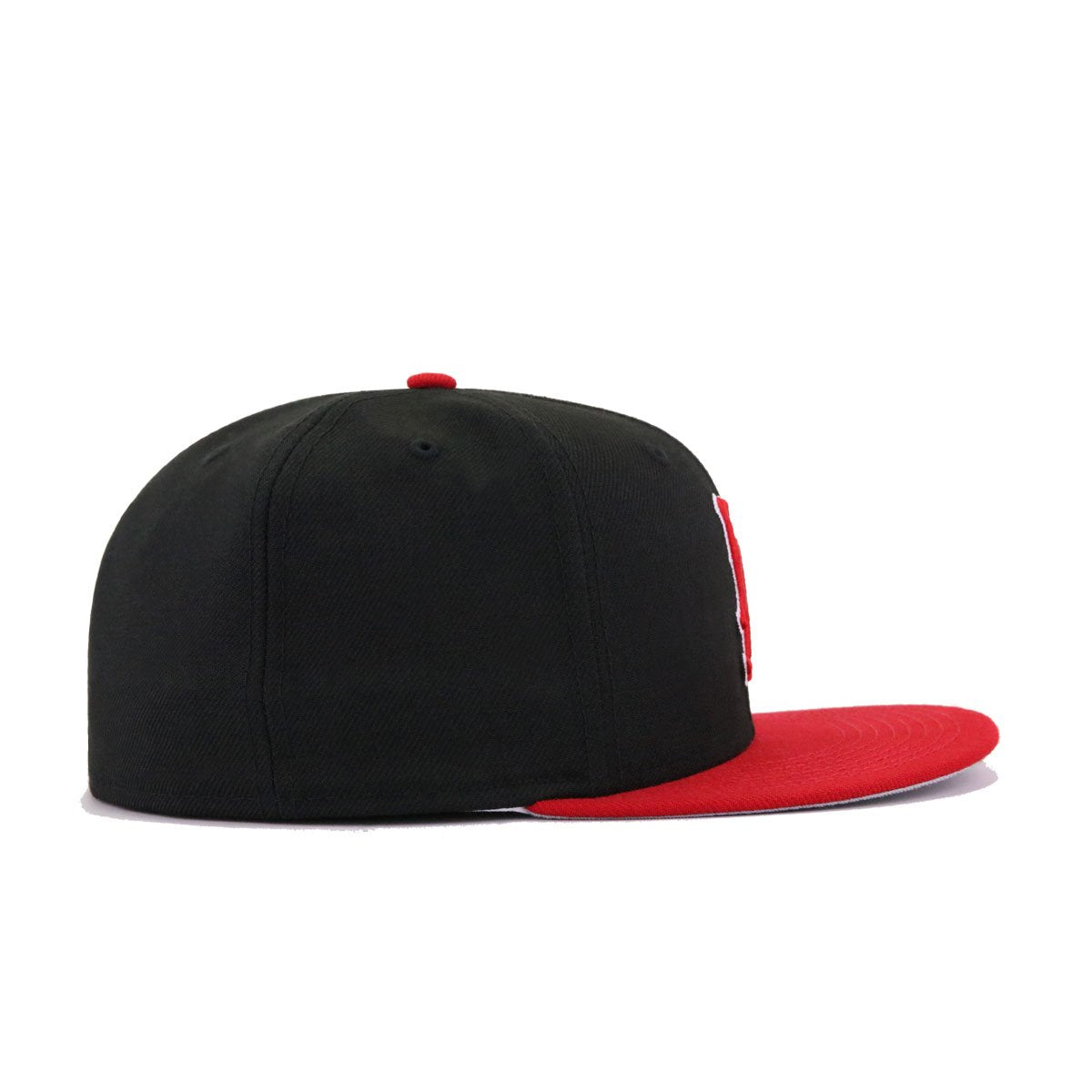 California Angels Black Scarlet Cooperstown New Era 59Fifty Fitted