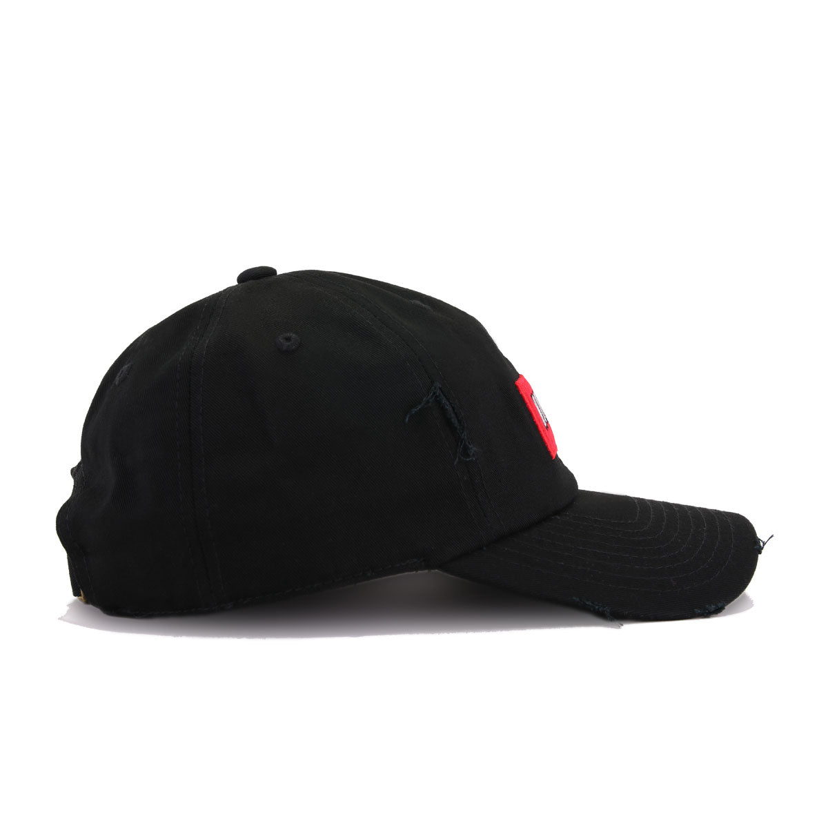 No Fcks Given Black Scarlet Field Grade Distressed Dad Hat