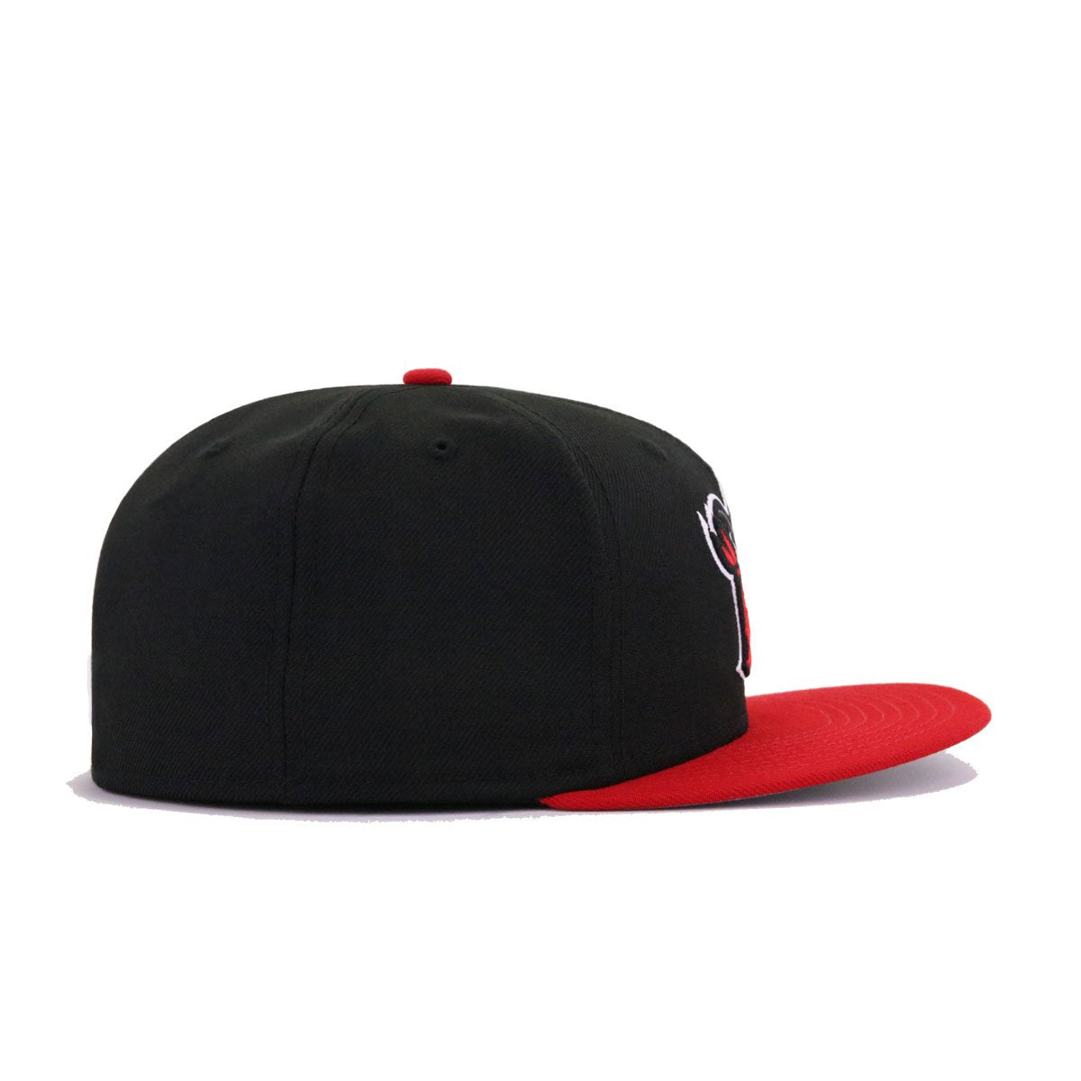 Quad Cities River Bandits Black Scarlet New Era 59Fifty Fitted