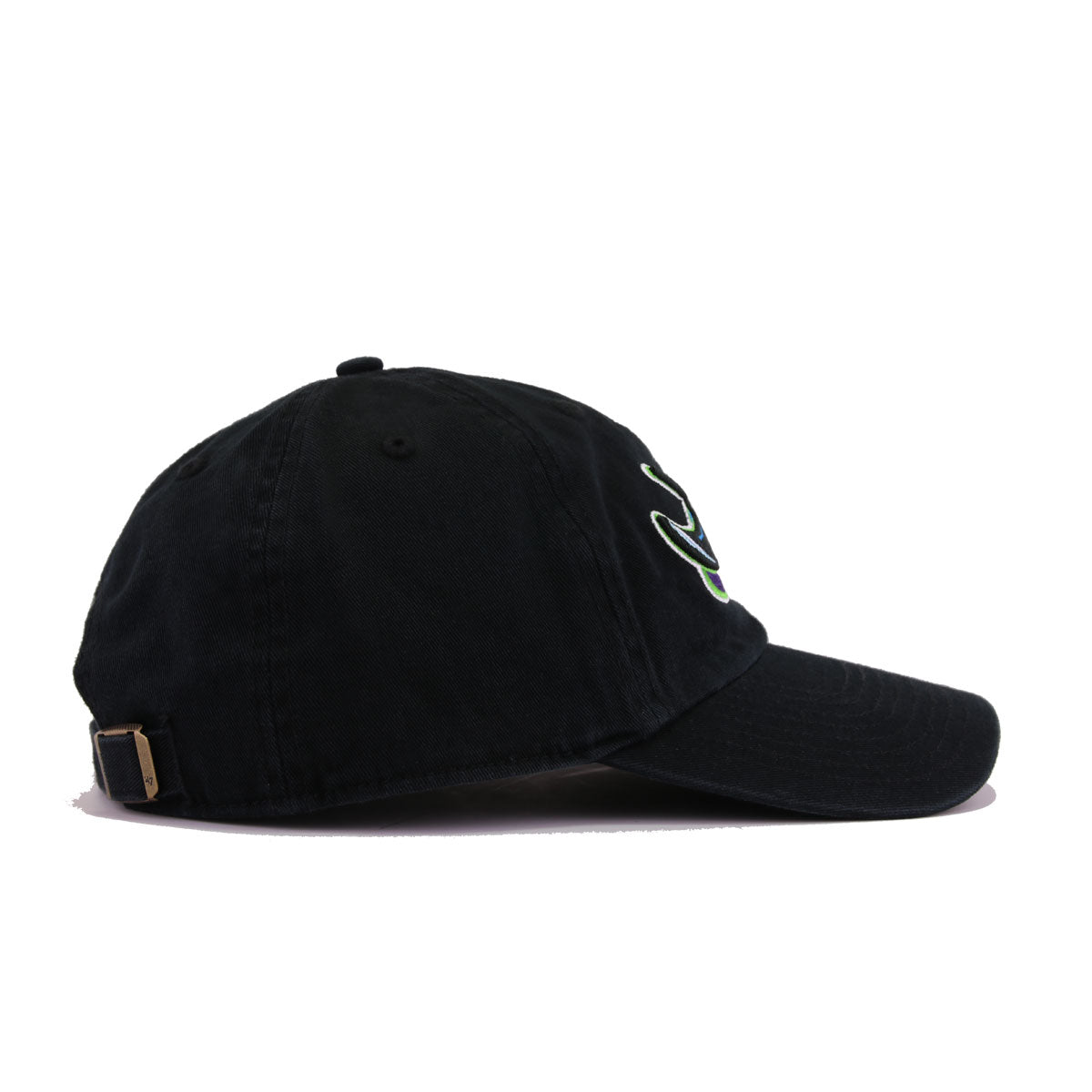 Tampa Bay Rays Black Cooperstown 47 Brand Clean Up Dad Hat