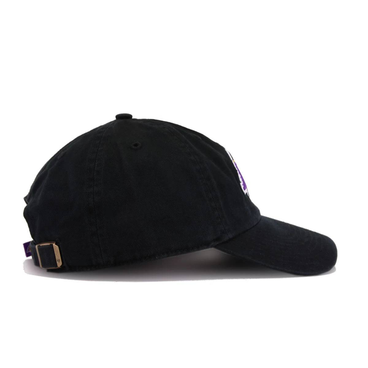 15ad7b8a Los Angeles Lakers Black 47 Brand Clean Up Dad Hat